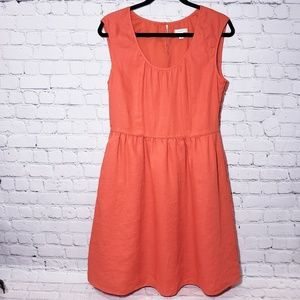 J. Crew Orange Sheath Knee Length Dress
